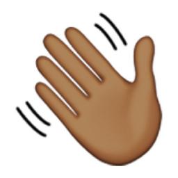 Wave Emoji Deeper Brown Waving Ha...
