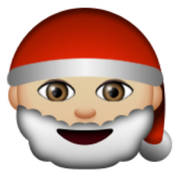Light Brown Father Christmas Emoji (U+1F385, U+1F3FC)