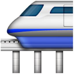 Monorail Emoji U 1f69d