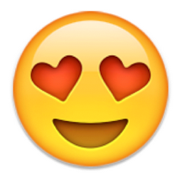 Smiling Face with Heart-Shaped Eyes Emoji  U 1F60D U E106 Iphone Face Emojis
