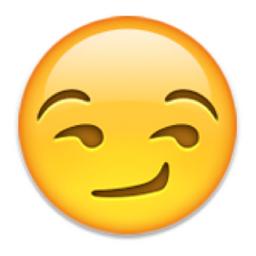 cheeky grin emoticon