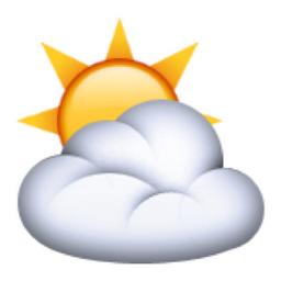 ⛅️ Sun Behind Cloud Emoji (U+26C5/U+E04A, U+E049/U+26C5, U ... Symbols Copy And Paste Sun