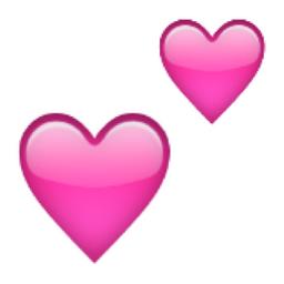 Iphone Emoji Heart Two Hearts
