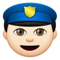 White Police Officer Emoji U 1f46e U 1f3fb