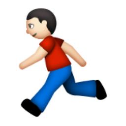 White Runner Emoji U 1f3c3 U 1f3fb