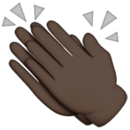 Black Clapping Hands Sign Emoji U 1f44f U 1f3ff