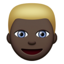 Chronological Black Person With Blond Hair