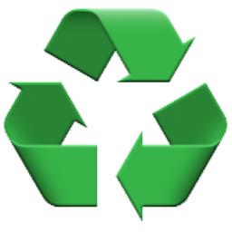 ♻ Black Universal Recycling Symbol Emoji (U+267B/U+267B, U+FE0F)
