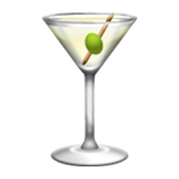 Cocktail glass emoji u 1f378 u e044 for Cocktail 9 mac