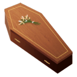 Coffin Emoji U 26b0