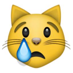Crying Cat Face Emoji (U+1F63F/U+E413)