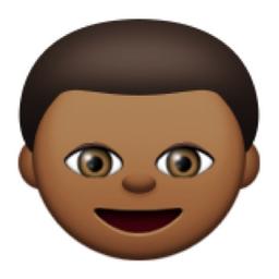 Deeper Brown Boy Emoji U 1f466 U 1f3fe
