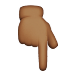 Image result for brown pointing down emoji