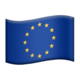 Flag Airplane Emoji european flag a...