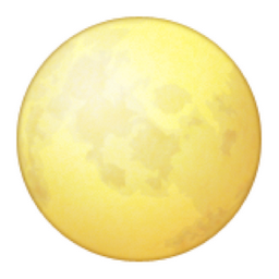yellow moon emoji - photo #26