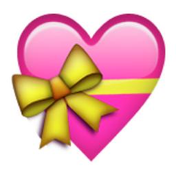 Iphone Emoji Heart Heart with Ribb...
