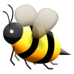 papers writing bee emoji copy