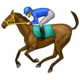 Horse Racing Emoji (U+1F3C7) Running Horse Png