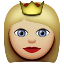Light Brown Princess Emoji U 1f478 U 1f3fc