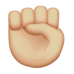 Hands up emoji code