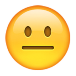 😐 Neutral Face Emoji (U+1F610)