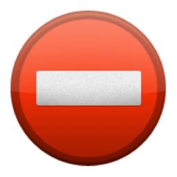 ⛔   No Entry Emoji (U 26D4/U E137/U 26D4, U FE0F)