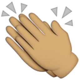 Olive Toned Clapping Hands Sign Emoji U 1f44f U 1f3fd