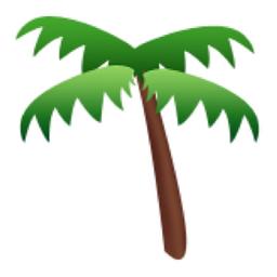 Palm Tree Emoji U 1f334 U E307