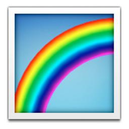 Rainbow Emoji U 1f308 U E44c