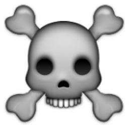 ★ MAGIC EMOJI ★ | ☠ the black side | big transparent emoji