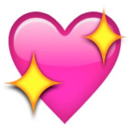 Iphone Emoji Heart Sparkling Heart...