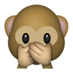 Image result for monkey with the hands over his mouth emoji