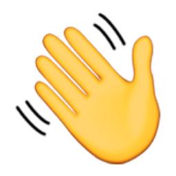 Waving Hand Sign Emoji (U+1F44B/U+E41E)