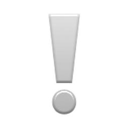 ❣   Heavy Heart Exclamation Emoji on Apple iOS 9.3