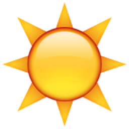 ☀️ Black Sun with Rays Emoji (U+2600/U+E04A/U+2600, U+FE0F) Symbols Copy And Paste Sun