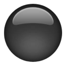 ⚫️ Medium Black Circle Emoji (U+26AB/U+E219/U+26AB, U+FE0F) Symbols Copy And Paste Dot