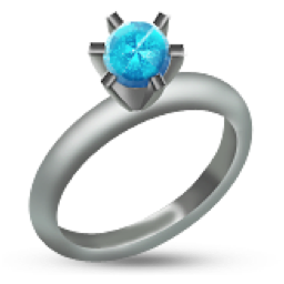 Silver wedding ring png