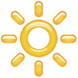 High Brightness Symbol Emoji (U+1F506) Symbols Copy And Paste Sun