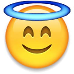 Smiling Face with Halo Emoji (U+1F607)