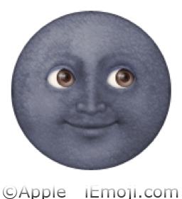 New Moon with Face Emoji (U+1F31A): www.iemoji.com/view/emoji/581/nature/new-moon-with-face