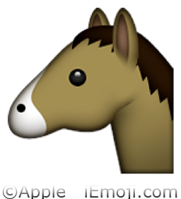 horse face emoji u 1f434 u e01a