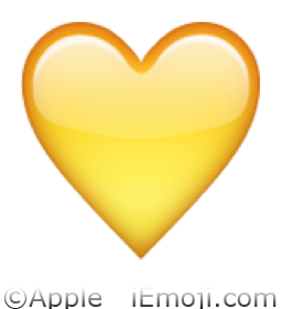 Yellow Heart Emoji (U+1F49B/U+E32C) Yellow Heart Emoji
