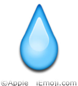Water Drop Emoji