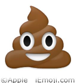Pile of Poo Emoji (U+1F4A9/U+E05A)