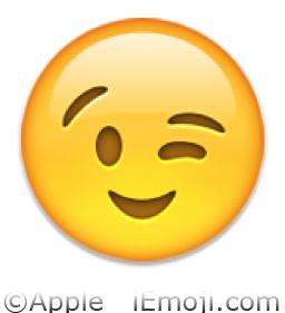 Winking Face Emoji (U+1F609/U+E405)