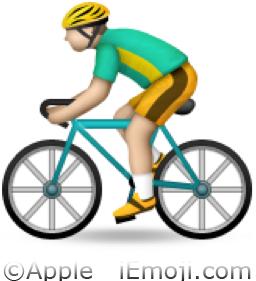 Bike And Flag Emoji Bicyclist Emoji (U+1F6...