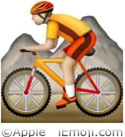 Bike And Flag Emoji Mountain Bicyclist Emo...